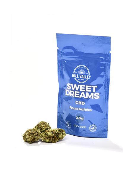 Sachet de 2,5 grammes de fleurs de cbd Sweet Dreams